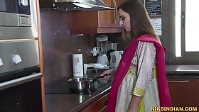 Newly seconded Indian bhabhi strips her salwar and loses her virginity with devar ji