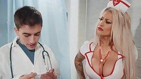 Seductive nurse bends lose concentration fine ass for cock