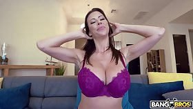 Busty mature Alexis Fawx fucked and gets her tits covered involving cum