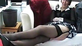 Mature unique brit hoe in stockings