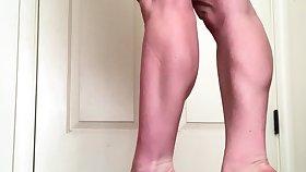 Big-busted brunette solo masturbation