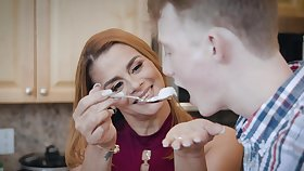 Naughty MILF Juliett Russo enjoys object fucked by a younger man