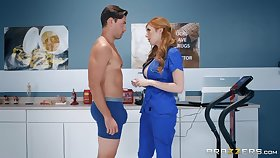 Super sexy red haired milf in healing uniform Lauren Phillips is fucked off out of one's mind hot blooded the truth