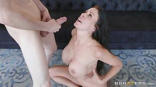 Reagan Foxx adores sucking friend's penis on burnish apply floor before fuck