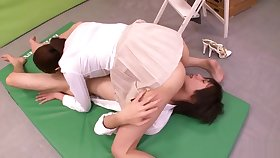 Enticing buxomy Japanese mom Hina Akiyoshi featuring hot cosplay copulation video