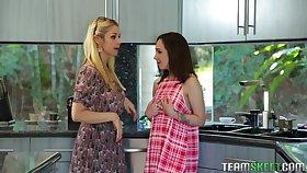 Sarah Vandella is chronometer amazing threesome with horny Lily Jordan
