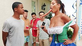 Hardest Oktoberfest group sex for tippler wife