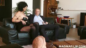 Old German slut knows how to make a Hawkshaw rise and she is so insatiable