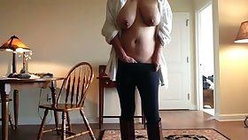 Great body on this mature woman increased by she's got some huge tits